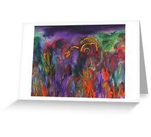 The Flaming Land Greeting Card