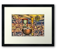 Wacky world Framed Print