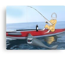 Corky's fishing Metal Print