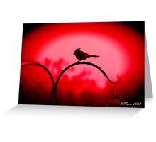 The Color is Red Greeting Card