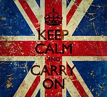 Grunge Keep Calm and Carry On Union Jack by itsjensworld