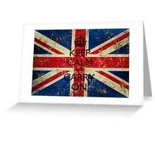 Grunge Keep Calm and Carry On Union Jack Greeting Card