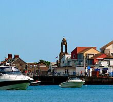 Swanage Seafront and Clock tower by ScenicViewPics