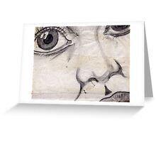 Face B/W Greeting Card