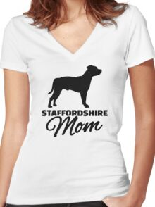 Staffordshire Mom Women's Fitted V-Neck T-Shirt