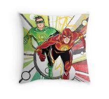 Flash & Green Lantern Throw Pillow