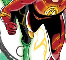 Flash & Green Lantern Sticker