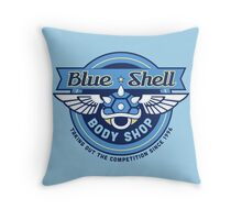 Blue Shell Auto Body Throw Pillow