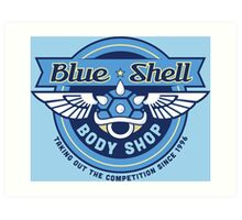 Blue Shell Auto Body Art Print