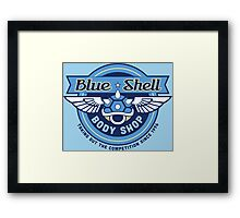 Blue Shell Auto Body Framed Print
