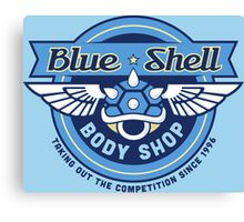 Blue Shell Auto Body Canvas Print