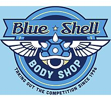 Blue Shell Auto Body Photographic Print