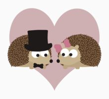Handsome Hedgehog Couple Kids Tee