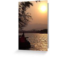 Summer Palace Sunset 3 Greeting Card