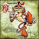 Muay Thai Monkey by cowboyreddevil