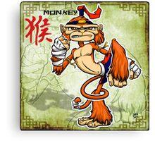 Muay Thai Monkey Canvas Print