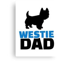 Westie Dad Canvas Print