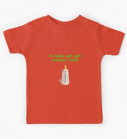 Linux Baby sudo apt-get install milk Kids Tee