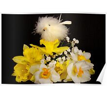 Fluff In Flowers Poster