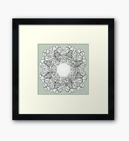 gray pattern Framed Print