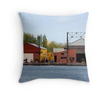 Queens Shoreline Throw Pillow