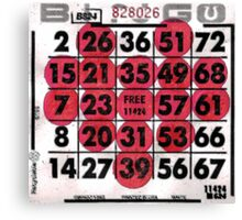 BINGO Heart Canvas Print