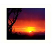 Layered Sunrise.... Art Print
