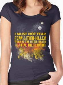 Litany Against Fear Women's Fitted Scoop T-Shirt
