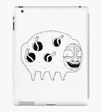 Happy Worm Pig -- there is no happier iPad Case/Skin