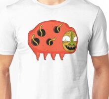 Happy Worm Pig -- there is no happier Unisex T-Shirt