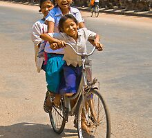 Tri-Cycling - Cambodia by Stephen Permezel