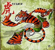 Tai Chi Tiger by cowboyreddevil