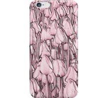 Tulips - pink line art iPhone Case/Skin