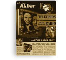 Akbar TV Company [pvt]- Pakistan's best HDTV of 1952 Canvas Print