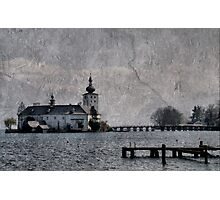 Little castle in the lake Photographic Print