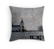 Little castle in the lake Throw Pillow