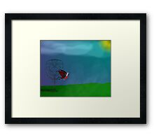Fae Folk on a Foggy Night Framed Print