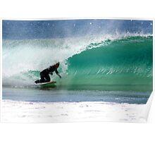 kneeboard surfing Poster