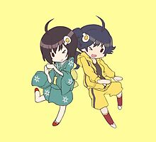 Monogatari – Fire Sisters by gentlemenwalrus