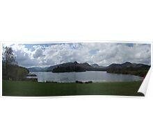 Lake Panorama at Keswick Poster