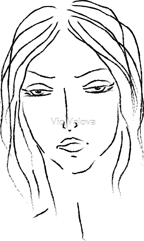girl sketch by VioDeSign