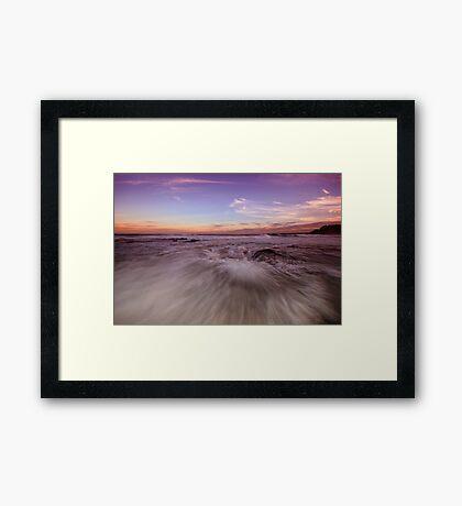 Newcastle Beach at Dusk Framed Print
