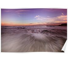 Newcastle Beach at Dusk Poster
