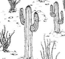 desert landscape with fish Sticker