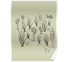 desert landscape with fish Poster