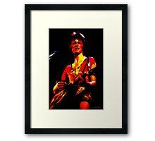 David Bowie - Ziggy Stardust - Digital Painting Framed Print