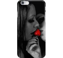Girls kissing Strawberry iPhone Case/Skin