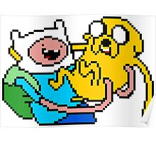 Finn and Jake - pixelart Poster