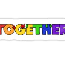 TOGETHER (rainbow colorway) Sticker