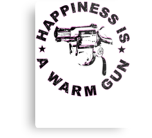 Happiness Is A Warm Gun (Inspired By John Lennon / Andy Warhol)  Metal Print